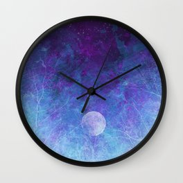 Violet Galaxy: Lunar Eclipse Wall Clock