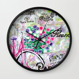 Paris by Jan Marvin Wall Clock