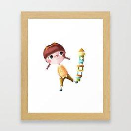 N de Tina Framed Art Print