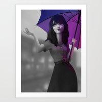 Parapluie Art Print