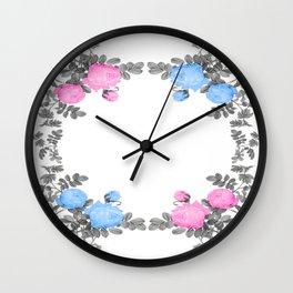 Garland flower Wall Clock
