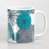planets Mugs featuring Blue Planets by sinonelineman