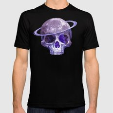 Cosmic Skull 2X-LARGE Mens Fitted Tee Black
