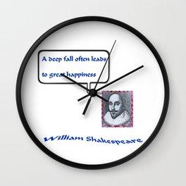 """""""Willshakespeare"""" TNT Wall Clock"""
