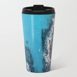 Land Meets Sea - Aerial Ocean Travel Mug