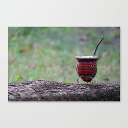 The perfect infusion: the argentinian's mate Canvas Print
