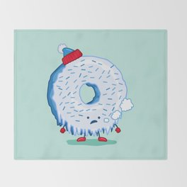 The Frigid Donut Throw Blanket