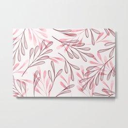 Simple Leaves 3 Metal Print