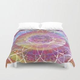 Glitch Mandala Duvet Cover