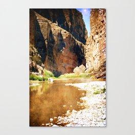 Rio Grande at Santa Elena Canyon Canvas Print