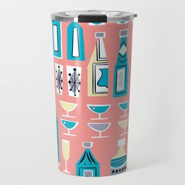Cocktails And Drinks In Aquas and Pinks Travel Mug