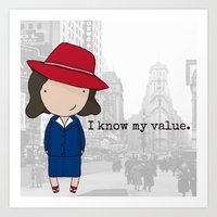 agent carter Art Prints featuring Agent Carter by Jen Talley
