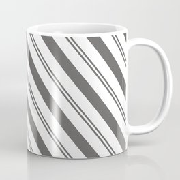 Pantone Pewter and White Stripes Angled Lines Coffee Mug