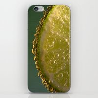 lime green iPhone & iPod Skins featuring Lime! by Caroline Benzies Photography