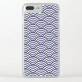 Japanese Koinobori fish scale Delft Blue Clear iPhone Case