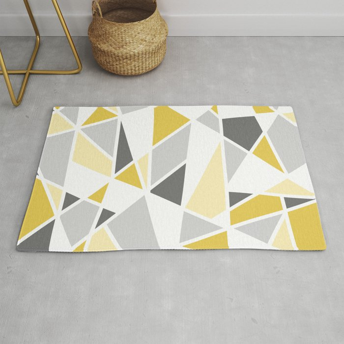 Handcraft Rugs Yellow Grey Silver Black Abstract Contemporary Modern Design Mixed Colors Area Rug