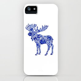 Gzhel Moose iPhone Case