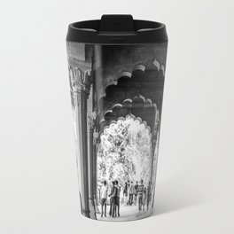 People wondering the Agra Fort in India Travel Mug