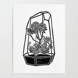 Terrarium Block Print Poster