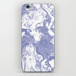 Nanami - spilled ink water pisces wave marble pattern marbling japanese watercolor iPhone Skin
