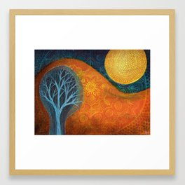 Moon Tree Framed Art Print