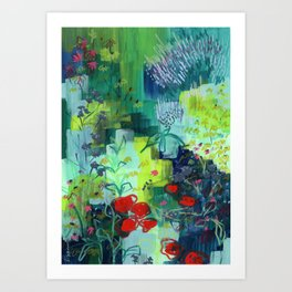 Buffalo Wildflowers - 2 Art Print