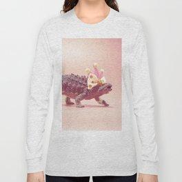 Ankylosaurus with crown Long Sleeve T-shirt