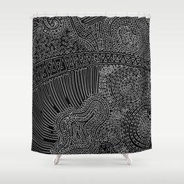tiny lines Shower Curtain