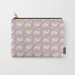 Bichon Frise Dog Pattern  Carry-All Pouch