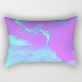 Organized Chaos Glitched Fluid Art Rectangular Pillow