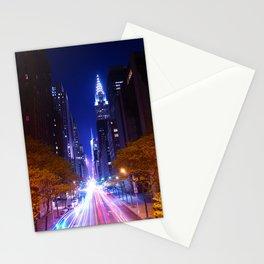 New York Night Life Stationery Cards
