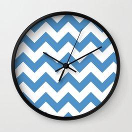 light blue chevron pattern Wall Clock