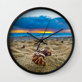 Hermit Crabs on the beach Wall Clock