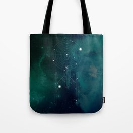 USS Space Ship Constellation Tote Bag