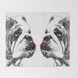 Bulldog Pop Art - How Bout A Kiss 2 - By Sharon Cummings Decke