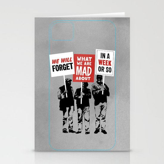 Semi-Protesting Stationery Cards