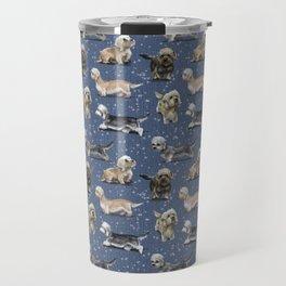 Blue Dandie Dinmont Terriers Travel Mug