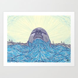 Ocean Face Art Print