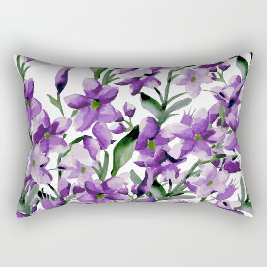 Lilac. Watercolor Rectangular Pillow