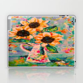 Sunflowers after the rain Laptop & iPad Skin