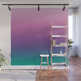 Pastel Gradient Pink Lavender Ultra Violet Arcadia Pattern | Pantone colors of the year 2018 Wall Mural