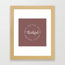 Thankful for Jesus and Autumn Framed Art Print