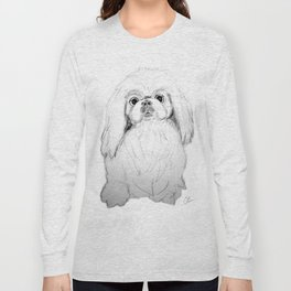 Cartoon Pekingese Dog Long Sleeve T-shirt