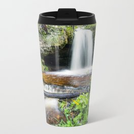 Scott Falls in Spring - Au Train Michigan Metal Travel Mug