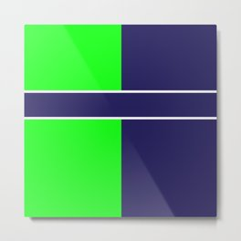 Team Colors...... 6 Lime green /navy Metal Print