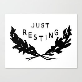 Just Resting Canvas Print