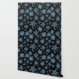 """Embroidered"" Snowflakes Wallpaper"
