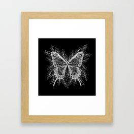 Black and White Butterfly Design Framed Art Print