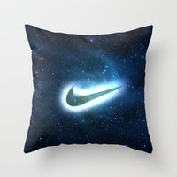 nike Throw Pillows featuring nike-galaxy by Max Jones