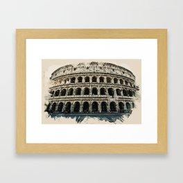 Wonders of the Worlds - Rome Monument Colosseum Italy Framed Art Print